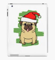 Entwurfs-lustiger Mops-Hundeweihnachten iPad-Hülle & Skin