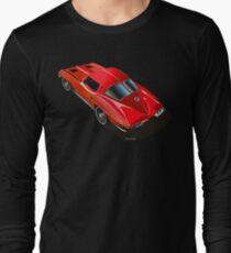 1963 Corvette Split Window Fastback Red Long Sleeve T-Shirt