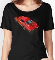 1963 Corvette Split Window Fastback Red Women's Relaxed Fit T-Shirt