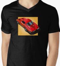 1963 Corvette Split Window Fastback Red Yellow T-Shirt