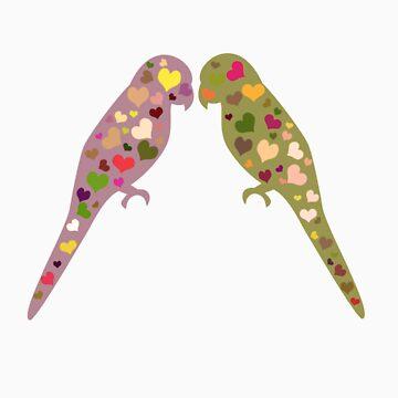 Lovebirds Tshirt by simpsonvisuals