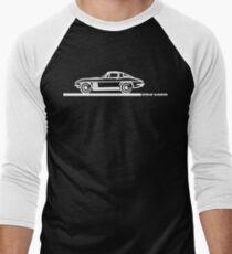 1965 Corvette Stingray Fastback White Men's Baseball ¾ T-Shirt