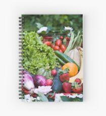 Fruit and vegetable basket Spiral Notebook
