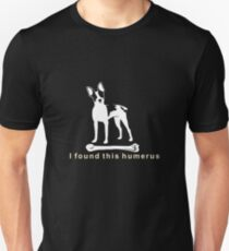I found this humerus | Rat Terrier Dog | NickerStickers on Redbubble Slim Fit T-Shirt