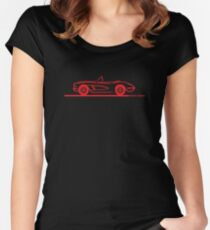 1958 Corvette Convertible Red Women's Fitted Scoop T-Shirt