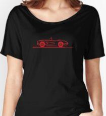 1958 Corvette Convertible Red Women's Relaxed Fit T-Shirt