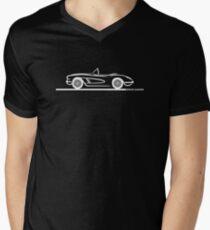 1959 1960 Corvette Convertible White Men's V-Neck T-Shirt