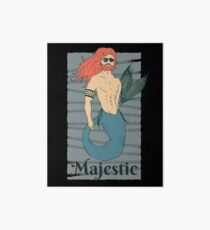Majestic Merman Art Board