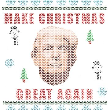 Make Christmas Great Again - Trump - Knitted Christmas Sweater Design by MattJAshworth