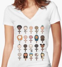 Equity 1 Women's Fitted V-Neck T-Shirt