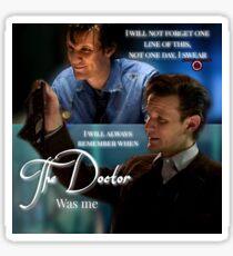 11th Doctor Last words  Sticker