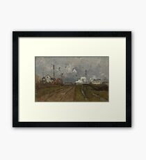 The Train is Arriving by Frits Thaulow Framed Print