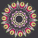 Black Red and Contrast Spinner Fall Into Winter Design from GreenBeeMee by GreenBeeMee
