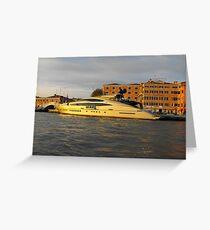 Motor Yatch AB116-Venice Greeting Card