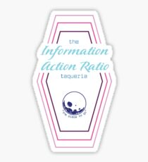 Information Action Ratio Logo Sticker