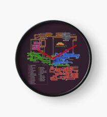 Reloj Mapa de Super Metroid