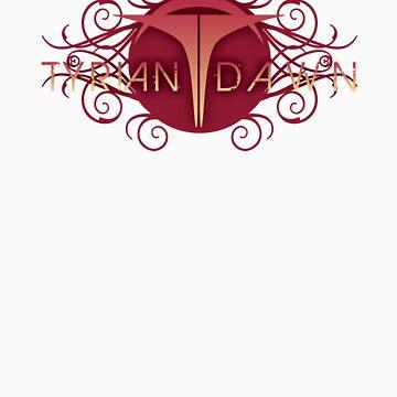 Tyrian Dawn Logo on Black T-Shirt by tyriandawn