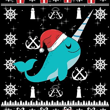 Narwhal Ugly Christmas Sweater Gift Kids Girls Women by maindeals