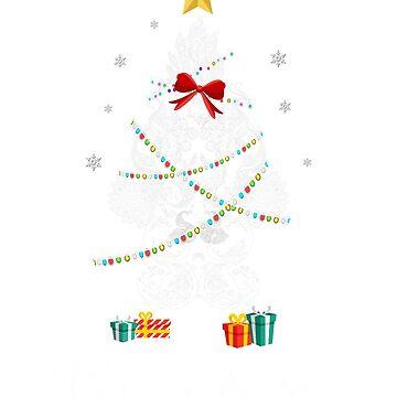 Christmas Light Peacock Tree T Shirt Gift For Women Men Kids by kelvil