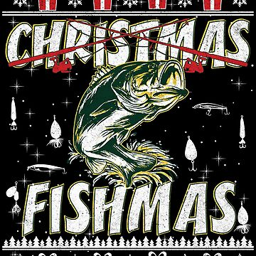 Fishing Ugly Christmas Sweater Gift Fishermen Anglers by maindeals