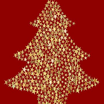 Golden Christmas Tree by Gravityx9