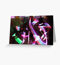 The Way of the Glow Stick Greeting Card