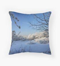 New Fallen Snow Throw Pillow