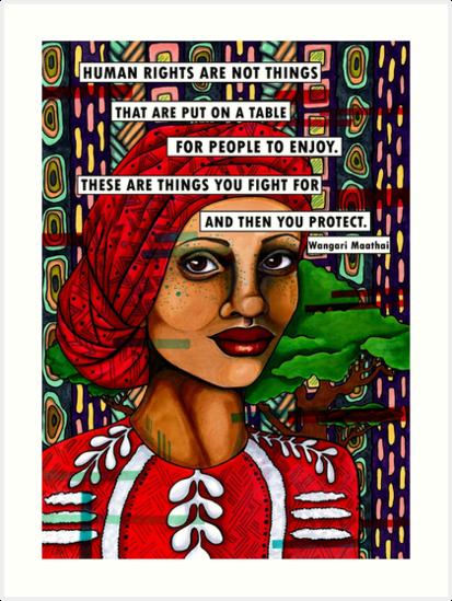 Wangari Maathai Art Prints By Alexandra Melander