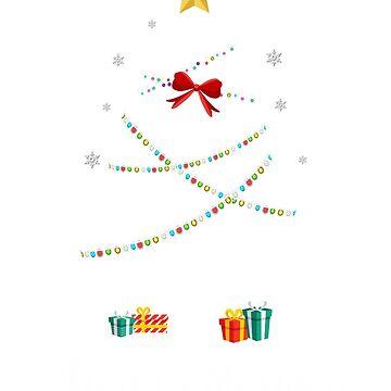 Christmas Light Cockroach Tree T Shirt Gifts Women Men Kids by kelvil
