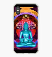 Blue Meditating Buddha iPhone Case