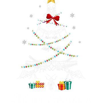 Christmas Light Grasshopper Tree T Shirt Gift Women Men Kids by kelvil