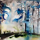 nebliger Wald von Marianna Tankelevich