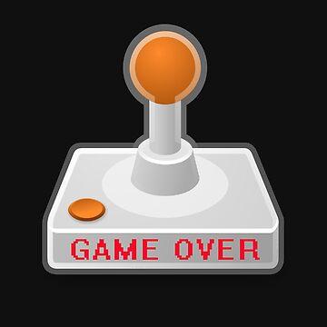 GAME OVER Gamer Gaming Nerd Gaming Joystick Retro by yoddel