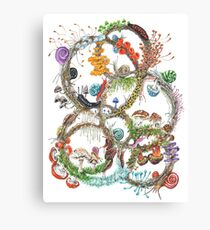 Snails & amp; mushrooms Canvas Print
