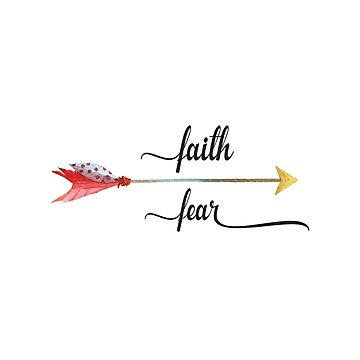 Inspirational Quote - Faith over fear by IN3PIRED