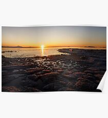 Boundary Bay Sunrise Poster
