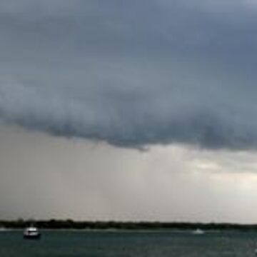Gust front Over Pumicestone Passage, Bribie Island 29/11/2009 by kaety