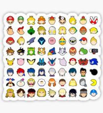 Super Smash Bros Ultimate Character Stock Icons - Franchise Order (Arrangement 3 of 4) Sticker