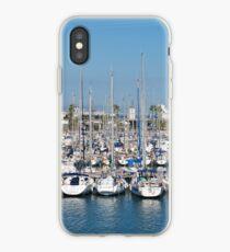 Port Olimpic in Barcelona iPhone Case