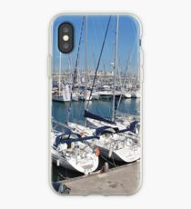 Port Olimpic marina in Barcelona iPhone Case