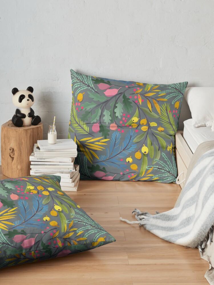 Alternate view of Fairy's garden Floor Pillow