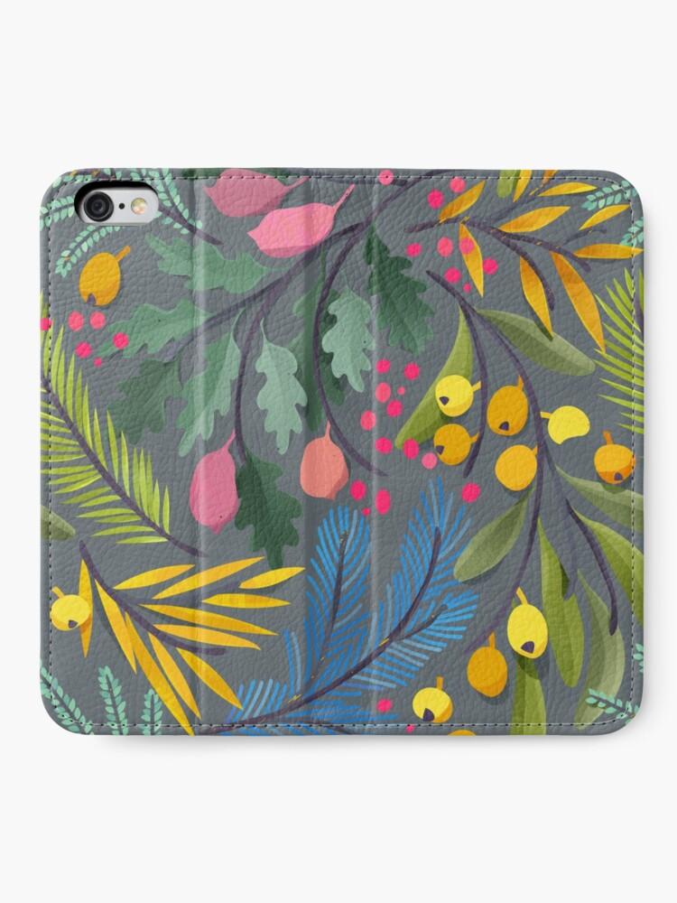 Alternate view of Fairy's garden iPhone Wallet