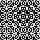 Tranquil Drop Ripples - Geometric Pattern (Black) by mariomartin