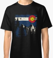 'Colorado Flag Moutain' Cool Colorado Flag Day  Classic T-Shirt