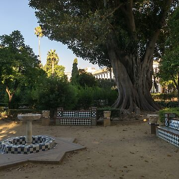 Hiding from the Heat in Seville Spain - Jardines de Murillo Green Oasis by GeorgiaM