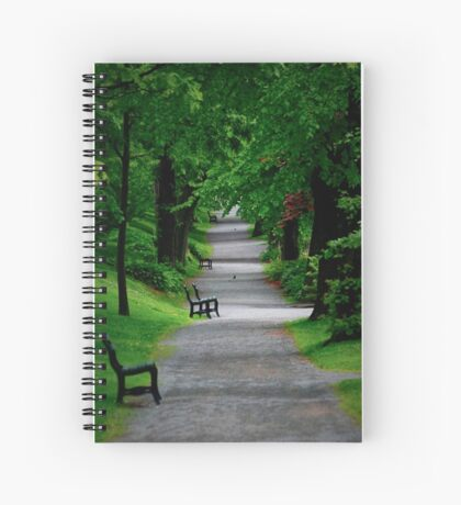 Path in The Park Spiral Notebook