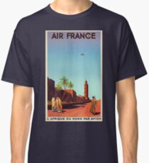 Vintage Travel Poster France - Morocco - North Africa - Air France - 1934 Classic T-Shirt