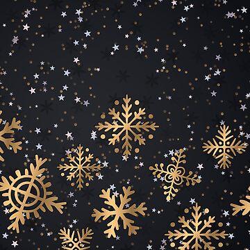 Golden snowflakes by LaPetiteBelette