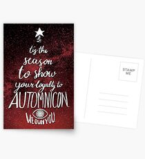 Automnicon Brucemas Card (Red) Postcards