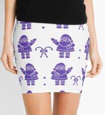 Christmas, New Year 2019 seamless pattern. Mini Skirt